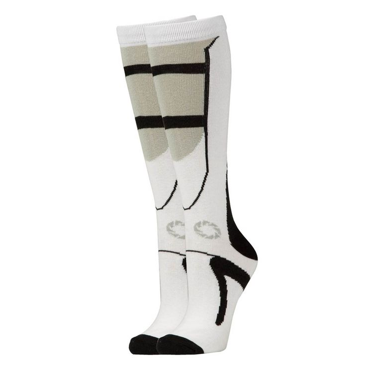 This is a sweet pair of Portal 2 Black and White Long Socks. Very cool. One size fits all. Good price too! Great for any fan of the Portal video game franchise. Time to show your Portal love! Recommen
