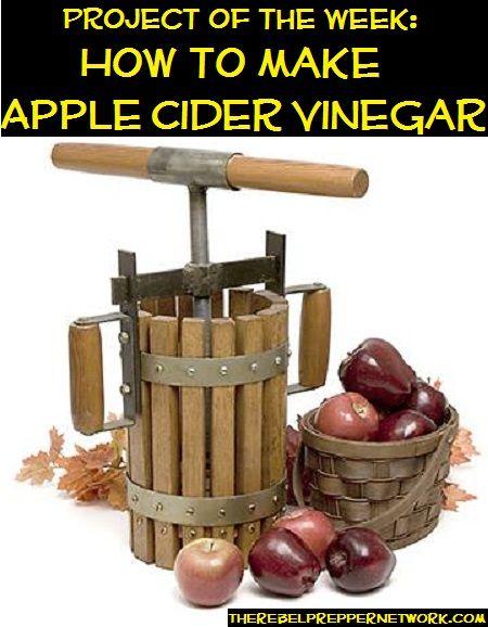 how to make unprocessed apple cider vinegar