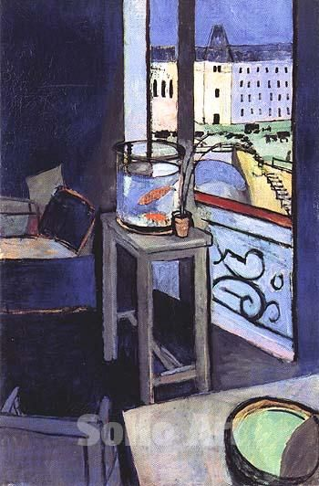 Matisse Interior with a Goldfish Bowl 1914 - Oil Paintings and Reproduction Art