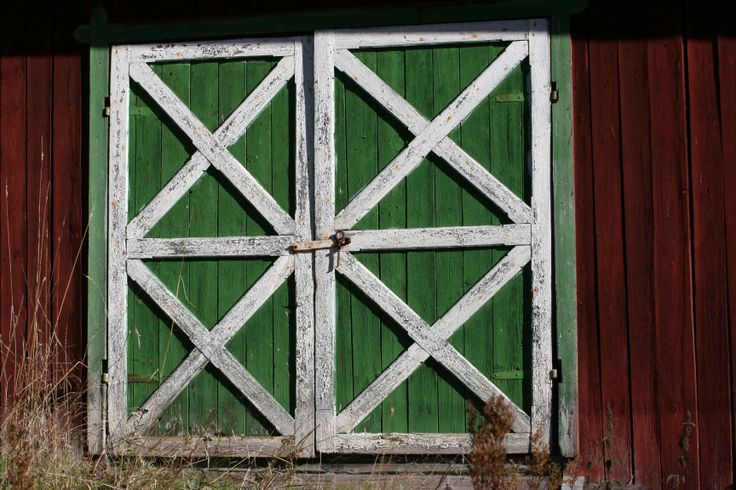 Double doors to the barn.
