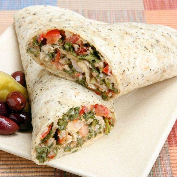 Vegetarian Mediterranean Wrap