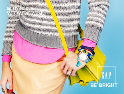 Stripe up your life.Bright Ideas, Bright Lookbook, Colors, Stripes Sweaters, Gap Bright