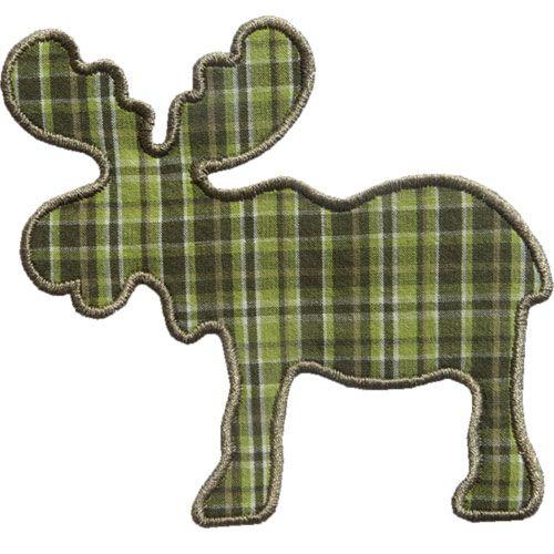 Moose Silhouette Applique by HappyApplique.com