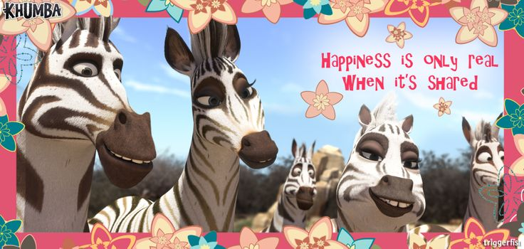 Any ideas as to what those zebras could be referring to?  (wink wink)  Being the month of LOVE, Khumba encourages you, to love you, just a little more this February.  Remember...Happiness is a choice, make yours!   www.khumbamovie.com