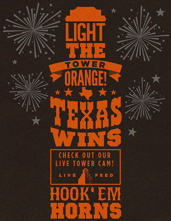 Light the tower orange! Texas wins!!!                                                                                                                                                                                 More