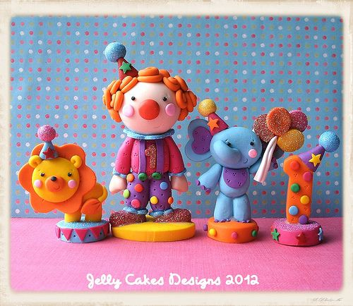 Little Circus cake topper set