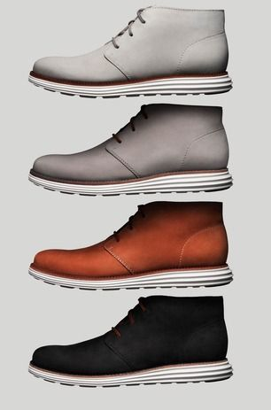 Cole Haan has borrowed some tech from Nike and is launching the the LunarGrand Chukka this week at their Soho store in NYC.