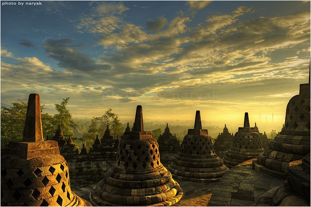 Borobudur Temple, Indonesia - Visit http://asiaexpatguides.com and make the most of your experience in Asia! Like our FB page https://www.facebook.com/pages/Asia-Expat-Guides/162063957304747 and Follow our Twitter https://twitter.com/AsiaExpatGuides for more #ExpatTips and inspiration!