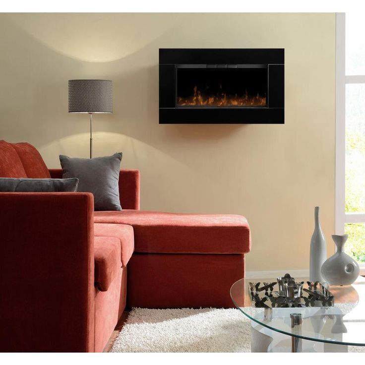 Dimplex Sloan 31 In Wall Mount Electric Fireplace In Black Dwf 1327b At The Home Depot