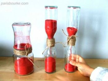 homemade hourglass.  the color of this one reminds a little of the one in Wizard of Oz.