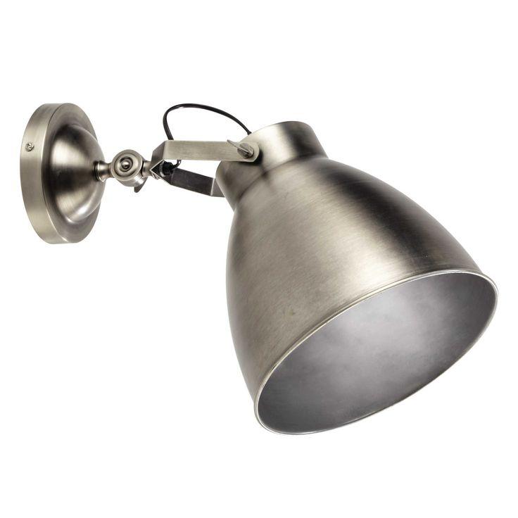 Applique en métal brossé H 47 cm USINE
