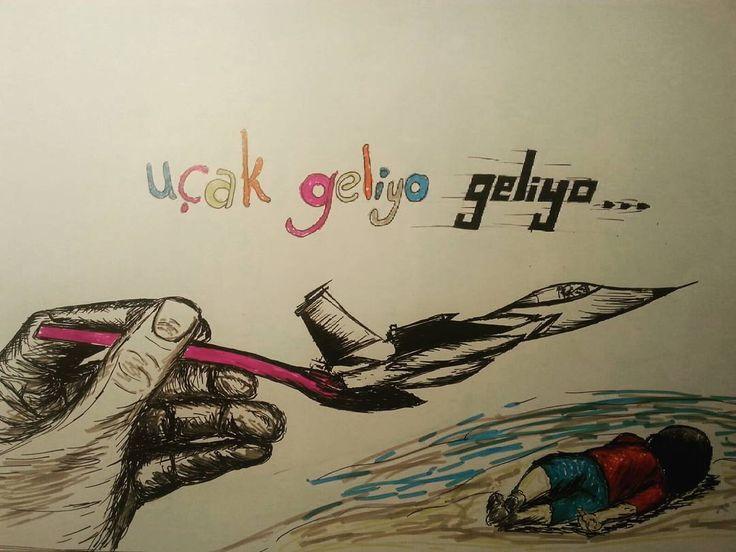 #cizim #cizimlerim #karikatur #aylankurdi #aylan #savaş #barış #peace #war