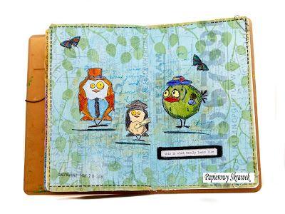Papierowy Skrawek: Art journal z Crazy Birds