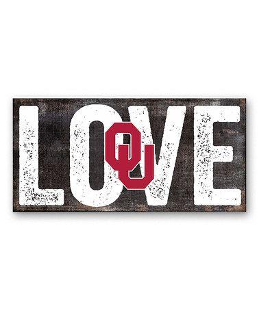 Oklahoma Sooners 'Love' Sign