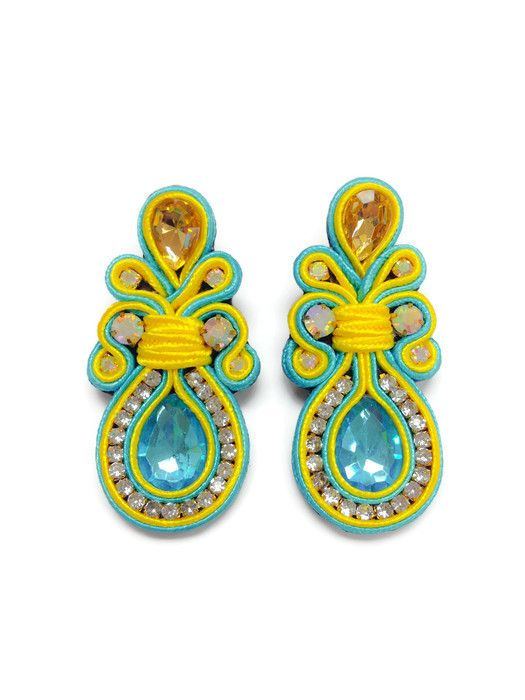 Soutache Earrings, orecchini Soutache