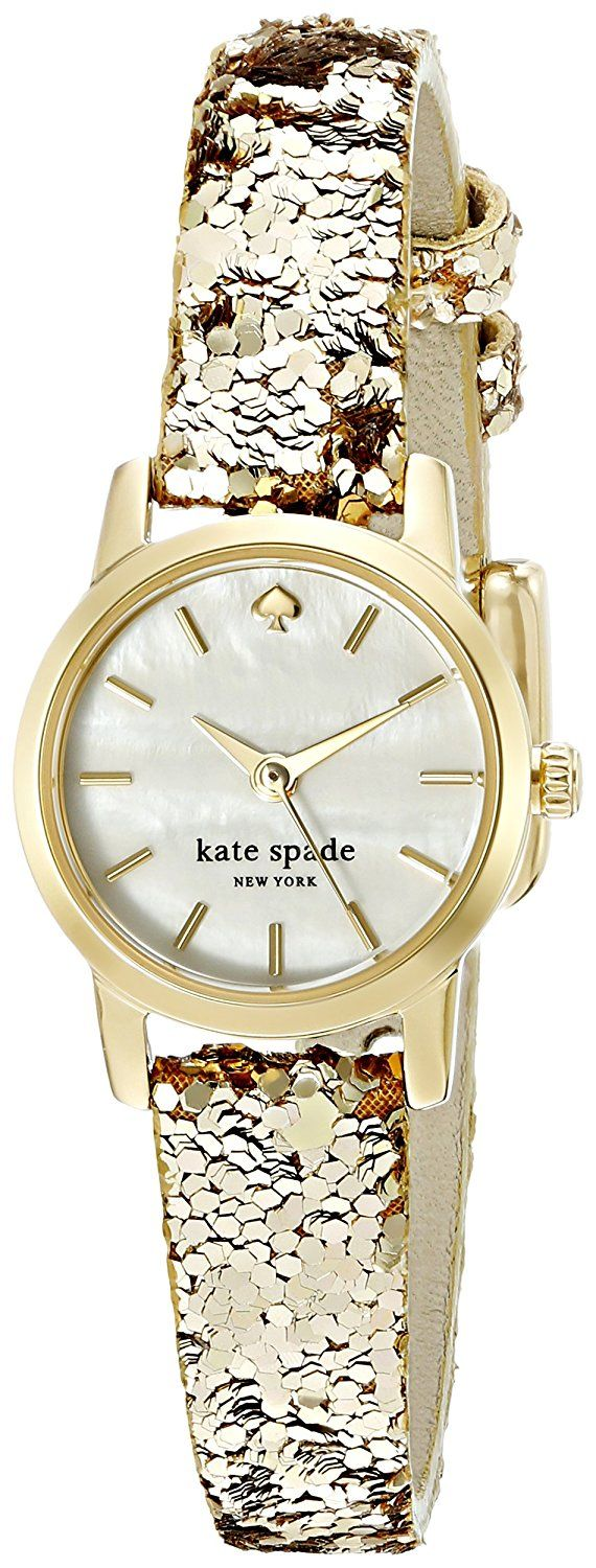kate spade new york Women's KSW1011 Tiny Metro Analog Display Analog Quartz Gold-Tone Watch ** Click image for more details.