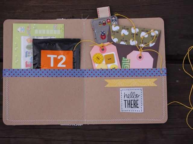Lovely, simple snailmail folder by Mel: 12 inch card stock square, slice off bottom third and then stitch back on to make a pocket