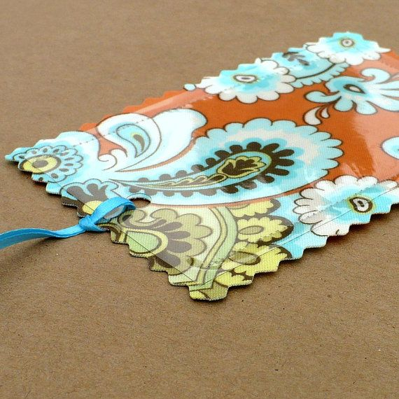 Custom Luggage Tags from recycled maps atlas by HappyGoLucky1, $16.00