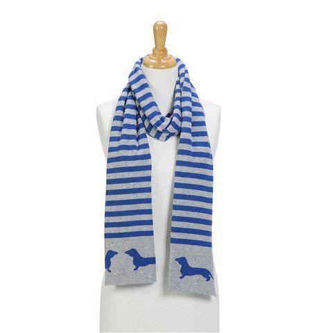 Dachshund Reversible Cotton Knit Scarf by Kelly & Sam www.kellyandsam.com.au