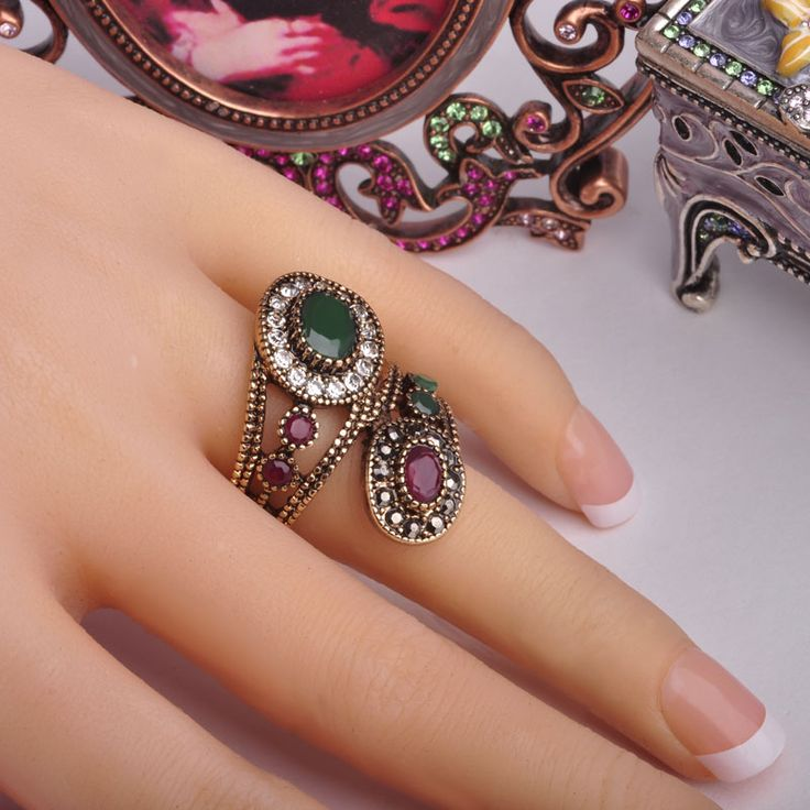 Day 365 New Arrival Exquisite Vintage Rings Turkish Jewelry Antique Gold Plated Spiral Charming Design Finger Ring Aneis Anel