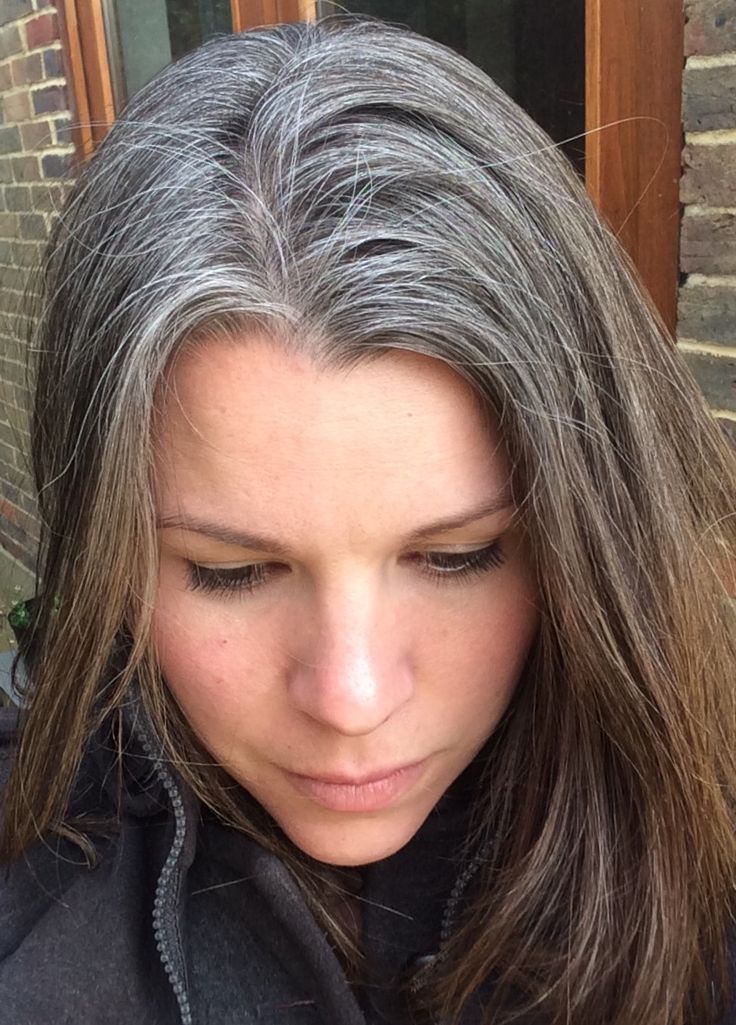 growing gray hair