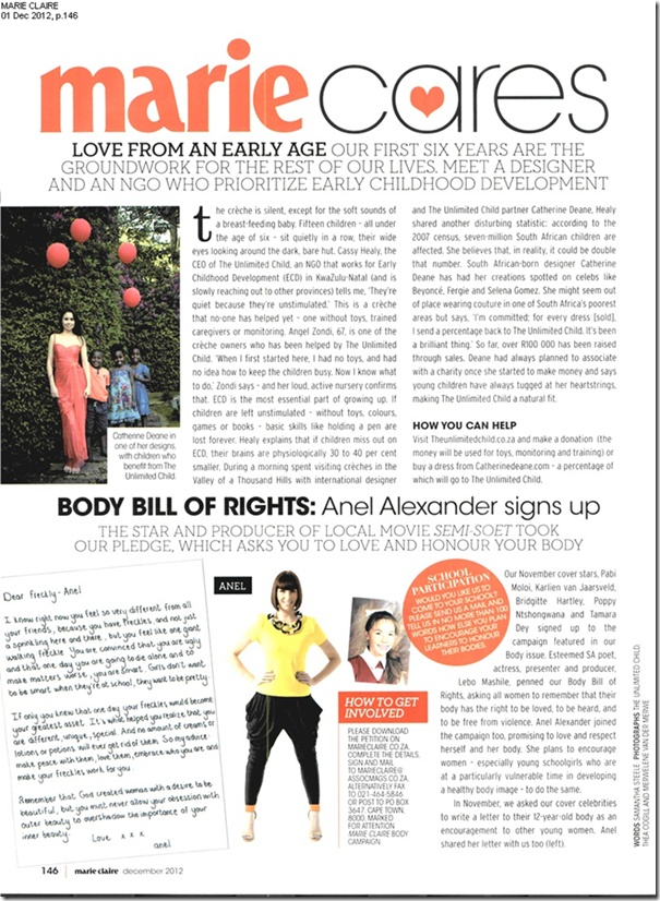 ...Featuring in the Marie Claire magazine :)