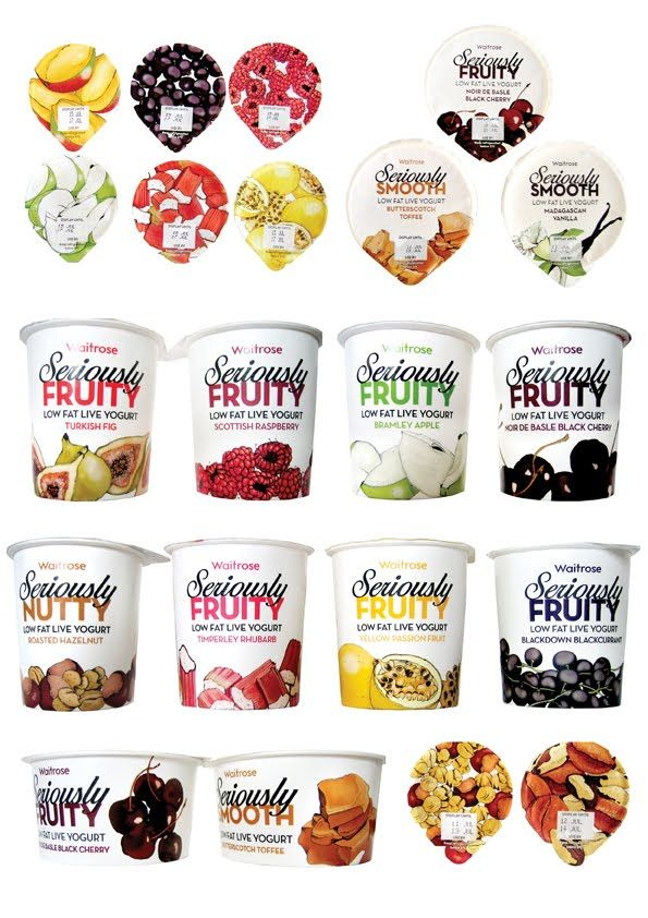 #Waitrose #Seriously #Yogurt #Packaging #FullRange #Design #DairyProducts #Illustration
