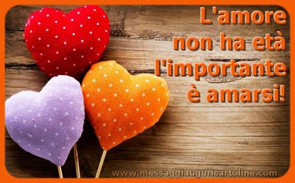 L'amore non ha età l'importante è amarsi!