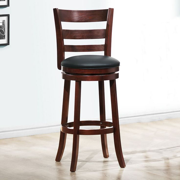HomeVance Atalya 29-in. Faux Leather Swivel Bar Stool, Brown