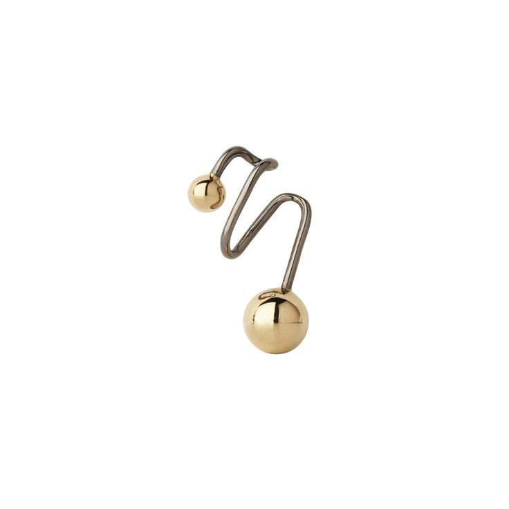 Black/Gold Orion Earcuff from Maria Black