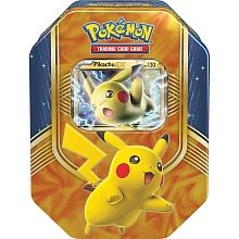 This heroic Pokemon-EX battles with a big heart! Choose the Lightning power of Pikachu-EX in the Pokemon Trading Card Game: Battle Heart Tin! Each rugged tin contains a mighty Pokemon-EX with the determination to give it all they've got-so prepare yourself for the battle of a lifetime! In this tin you'll find: 1 special foil Pokemon-EX card-Pikachu-EX, 4 booster packs and a code card to unlock a playable deck in the Pokemon Trading Card Game Online!