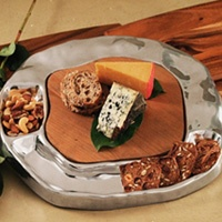 Vento Cracker/ Dip Tray with Cutting Board