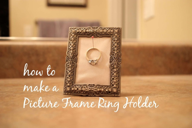 Our Adventure: Picture Frame Ring Holder Project Tutorial