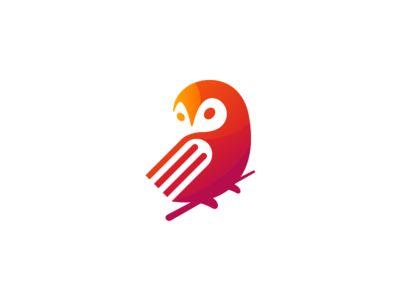 Owl+Book Logo Design