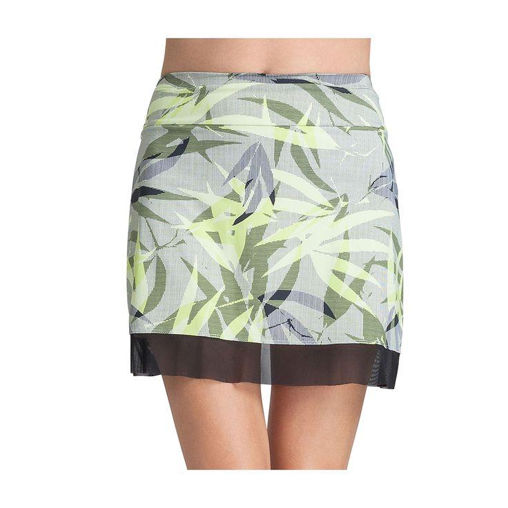Women's Tail Mora Knit Mesh Hem Tennis Skirt, Size: Medium, Yellow Oth