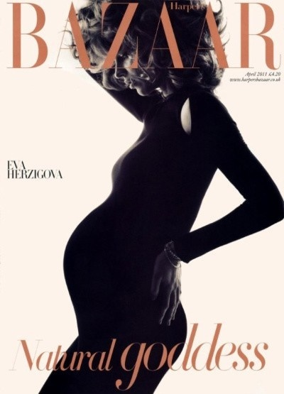 Baby bump silhouetteEva Herzigova, Maternity Fashion, Harpers Bazaars, Maternity Photos Shoots, Pregnancy Photography, Covers Pages, Fashion Photography, Magazines Covers, Evaherzigova