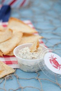 Chilled Crab Dip - I made this a day ahead, but wish I had done it 2-3 days ahead for the fullness of the flavors to develop, I added a little Old Bay and parsley leaf garnish.