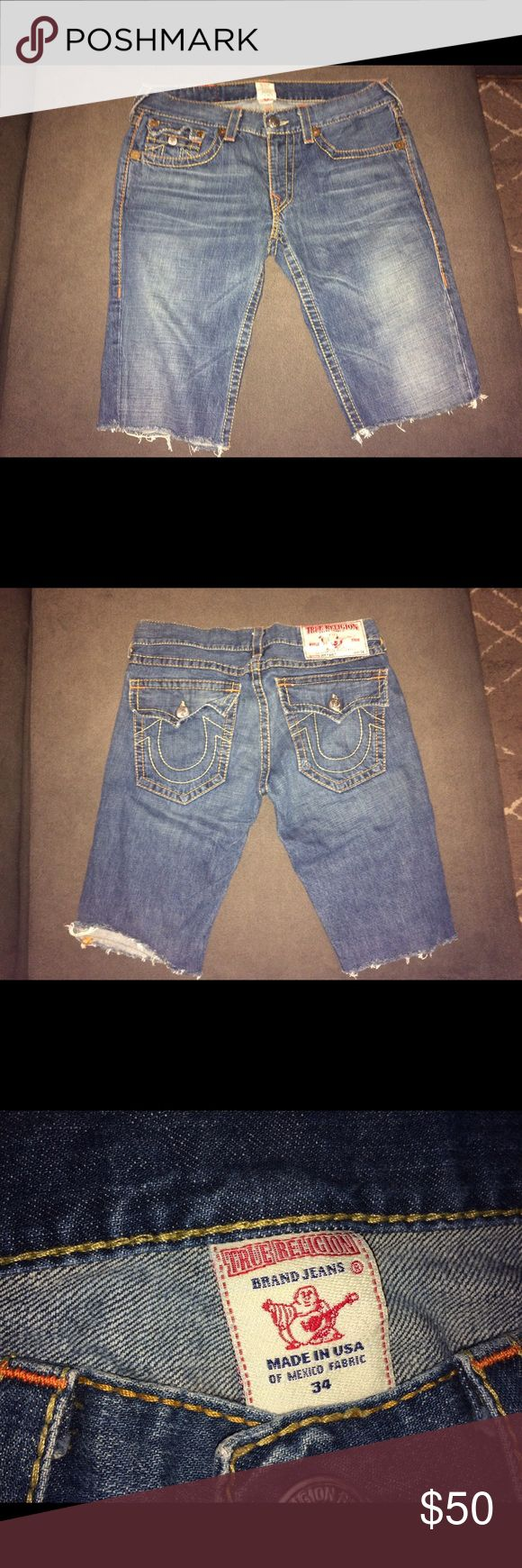 True religion men's Jean shorts True religion jeans that were cut into shorts . Great condition True Religion Shorts Jean Shorts