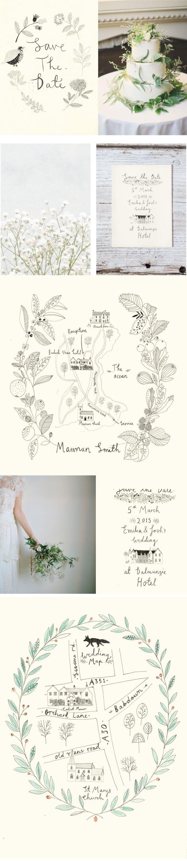 Katt Frank Wedding design. Love this idea. Include a map of www.weddingsatcrystalsprings.com