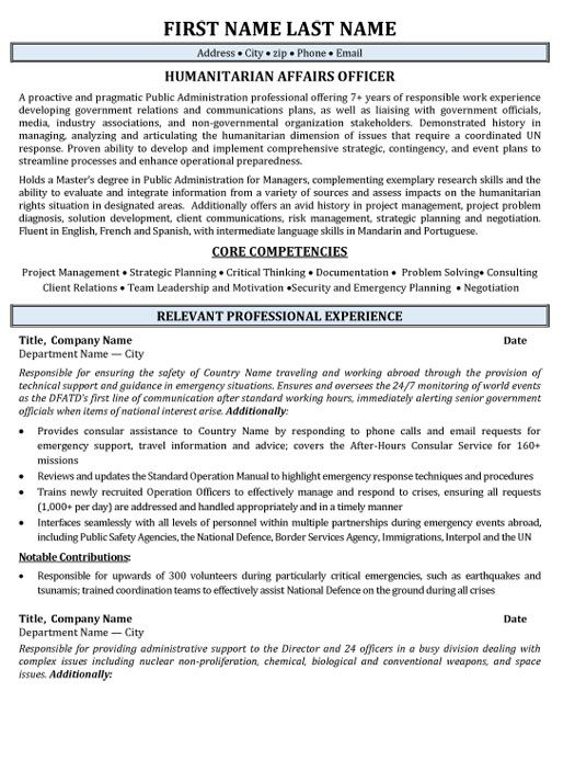 Government Resume Templates Pinterest Template and Resume examples - resume name examples
