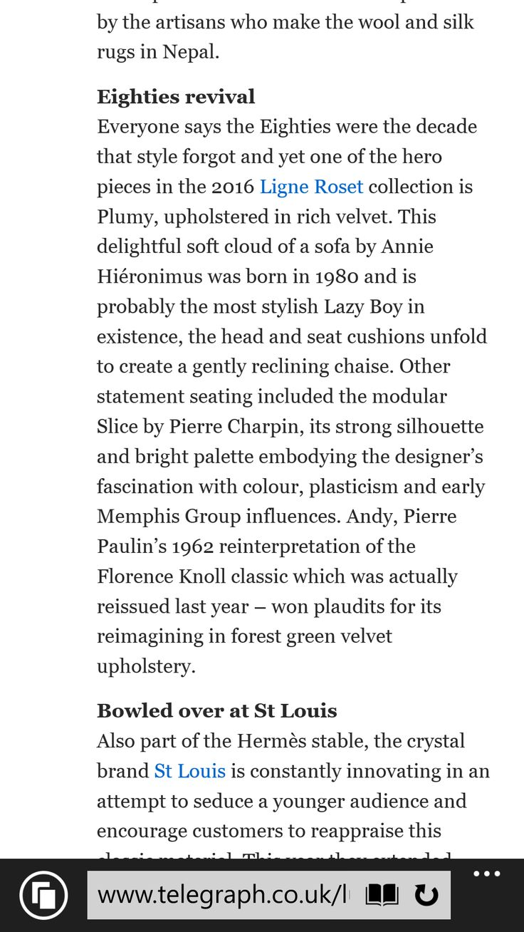 Daily Telegraph Luxury review of Paris Maison & Objet