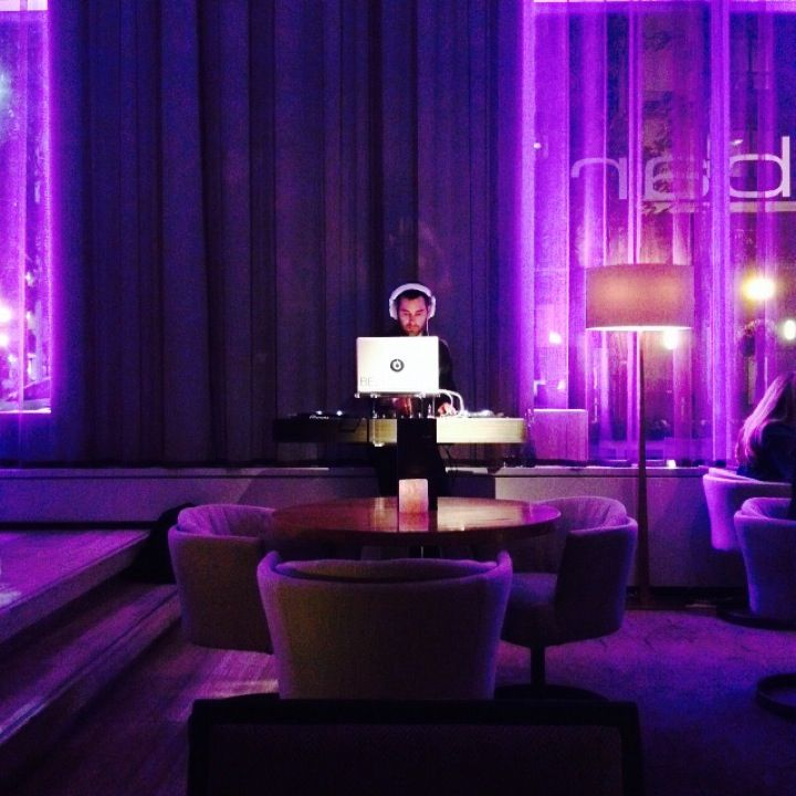live DJ every night at dbar in the Four Seasons Hotel Toronto