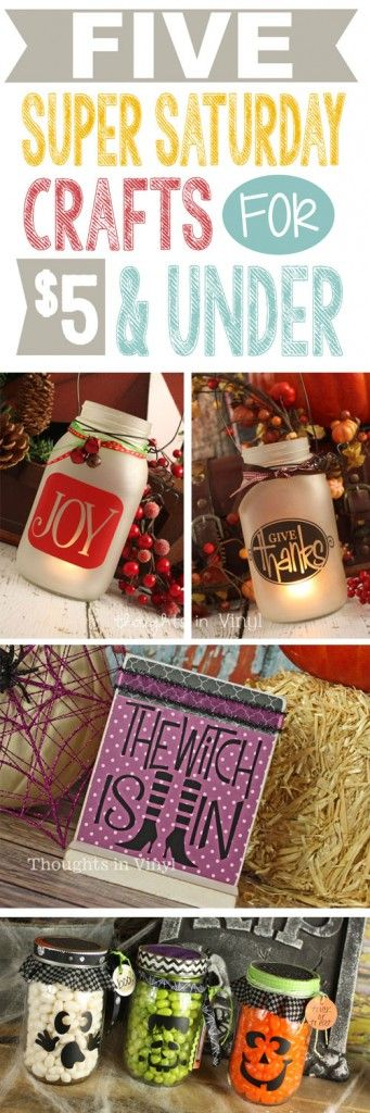 Super Saturday Crafts! {Lots of darling Fall, Halloween, Thanksgiving, and Christmas craft kits} | Thoughts in Vinyl
