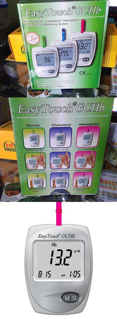 Cholesterol Testing: Easytouch Gchb Glucose, Cholesterol, Hemoglobin Multi Function Monitoring System BUY IT NOW ONLY: $36.0
