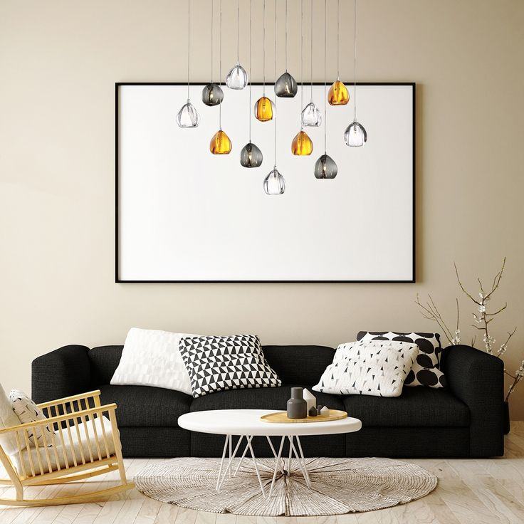 A 13-light oval chandelier from the Lucido collection