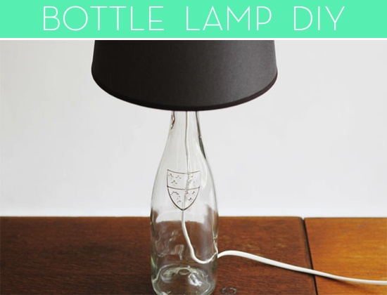 how to make a bottle lamp (credit: Lana Red)