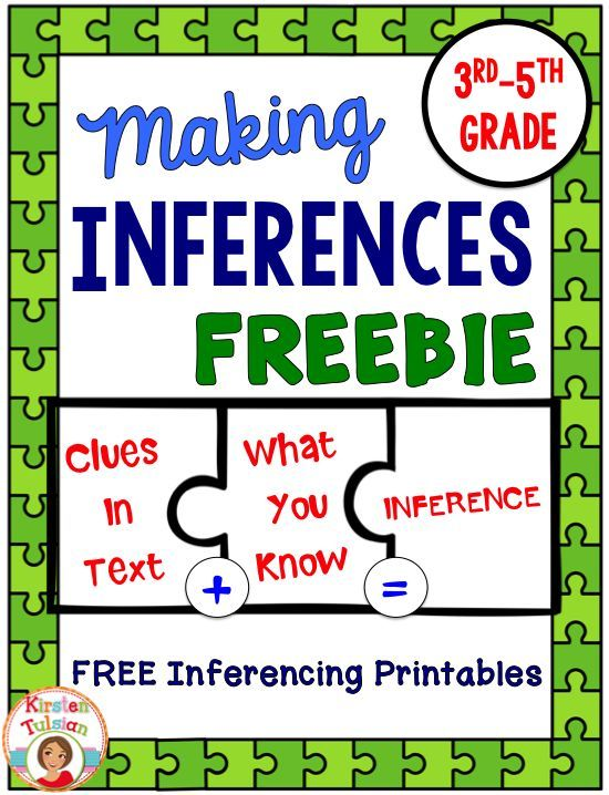 FREE Inferences Printables- Ready to use inferences activities for 3rd-5th grade! This inference sample includes inferences printables, inferences task cards, and inferences using pictures. ENJOY!  - repinned by @PediaStaff – Please Visit  ht.ly/63sNt for all our pediatric therapy pins