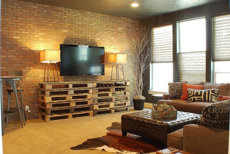 Industrial Style Living Room Home Ideas Pinterest Industrial Style And Crates