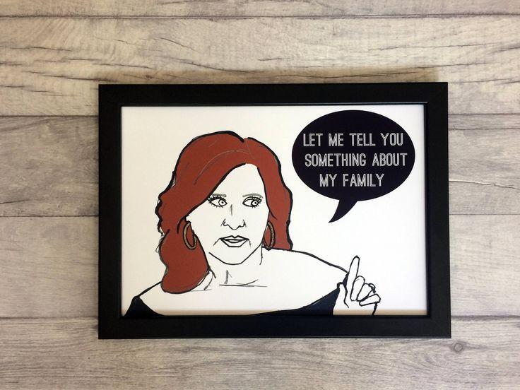 My Family- Real Housewives Caroline Manzo inspired Illustration/Art Print by Katsillustration on Etsy