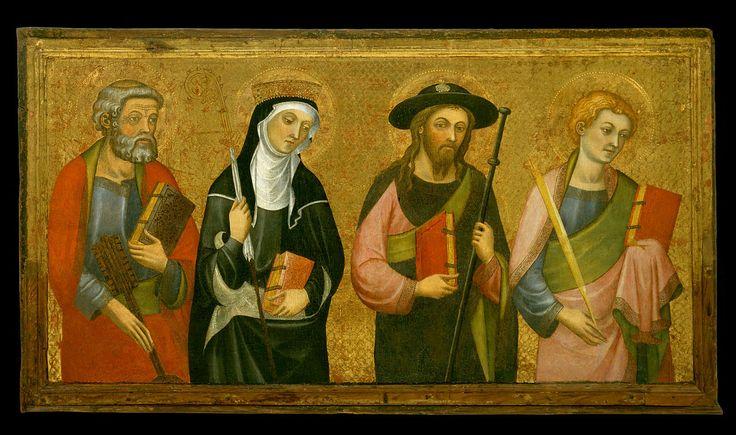 Pere Serra - Saint Peter, Saint Claire, Saint James the Great and Saint John the Evangelist.